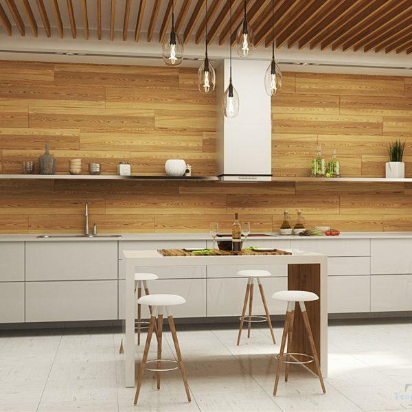 Угловая светлая современная кухня